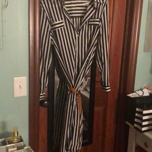 Stripped summer dress size M